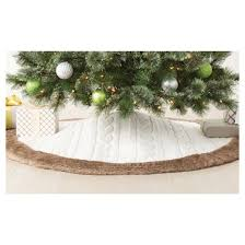 cable knit fur tree skirt wondershop target