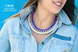 diy necklace with rope images Search results rhinestone chain bracelet jpg