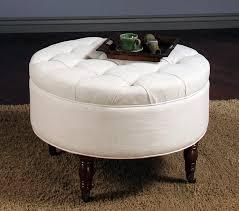sofa large round storage ottoman brown leather circle ottoman