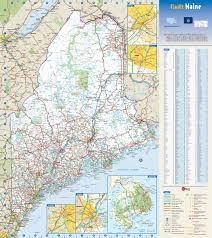 maine map with cities large detailed roads and highways map of maine state with national