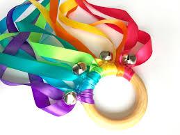ribbon streamers fairy wand bright rainbow waldorf kite ribbon streamers