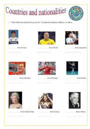 english worksheets countries and nationalities famous people