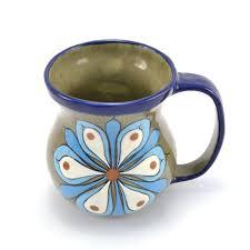 floral coffee cup ceramics handmade guatemalan imports