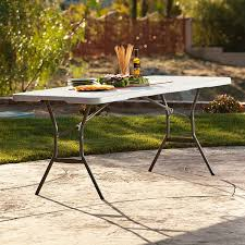 Folding Table by Amazon Com Lifetime 25011 Fold In Half Commercial Table 6 Feet