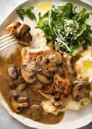 turkey mushroom gravy recipe just chicken with mushroom gravy recipetin eats