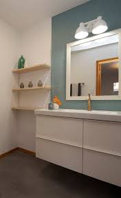 ikea round mirror spaces modern with floating mirror transitional