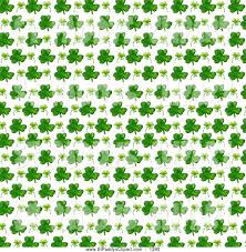 clip art of a st patricks day pattern of green shamrocks over