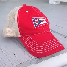 Ohios State Flag Good River State Of Ohio Red Trucker