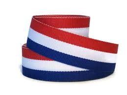 white blue ribbon white and blue 7 8 striped grosgrain ribbon by the yard