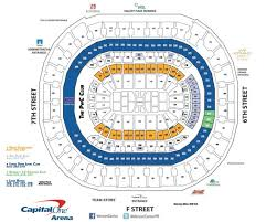 United Center Floor Plan by Capital One Arena Seating Charts For Concerts Events C