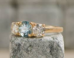 antique aquamarine engagement rings vintage aquamarine engagement ring etsy