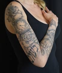 roses arm sleeve tattoo rose and compass sleeve u2013 tattoos nancy