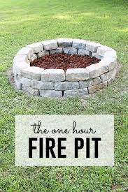 fire pit made of bricks 57 inspiring diy outdoor fire pit ideas to make s u0027mores with your