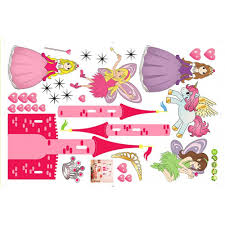 25 princess castle wall decal princess castle and angel cartoon princess castle and angel cartoon wall decal