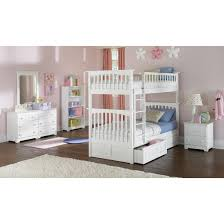 Columbia Bunk Bed Twin Over Twin With Two Raised Panel Bed Drawers - White bunk bed with drawers