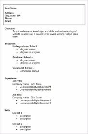 Application Resume Template College Entrance Resume Template High Senior Resume For