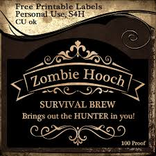 free printable zombie images free zombie hooch survival brew printable labels 3 sizes available