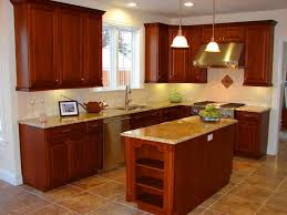 Small Kitchen Cabinet by Masculine Small Kitchen Design Ideas Presenting L Shape Brown