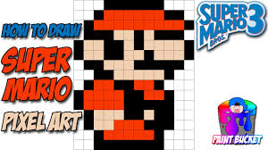 draw super mario bros 3 smb3 pixel art sprites drawing