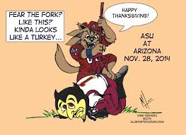 arizona vs asu mike hanaoka wilbur the wildcat drawings