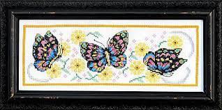 bobbie g designs playful butterflies cross stitch kit