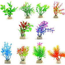 10 pack artificial aquarium plants small size 4 to