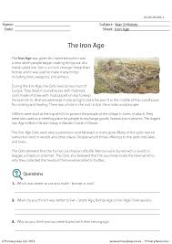 comprehension the iron age