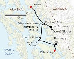 Sitka Alaska Map by Alaska U0027s Inside Passage Itinerary U0026 Map Wilderness Travel