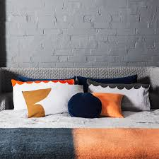 grey linen rust cloud pillowcase u2013 castle and things