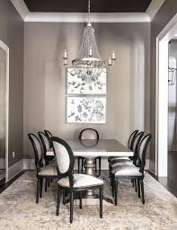 Gray Dining Rooms Gray Dining Room With Gray Dining Table And Gold And Gray Rug