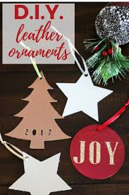 handmade ornaments handmade christmas ornaments from leather designer trapped in a