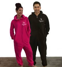 mr and mrs fleece onesies set of 2 our as