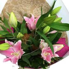pink lillies pink lilies bouquet flowers delivery florist wellington nz