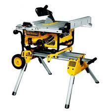 dewalt chop saw table dewalt dw745rs heavy duty table saw with leg stand 110v dw745rs