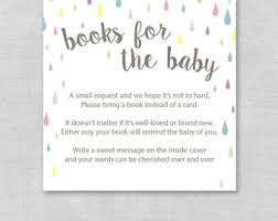 Baby Shower Instead Of A Card Bring A Book Book Instead Of Card