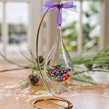 smokey acrylic fillable teardrop ornaments acrylic fillable