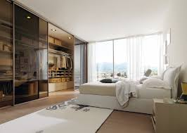 Design A Master Bedroom Closet Modern Master Bedroom Closet With Elegant White Curtains And Cozy
