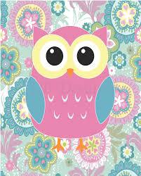 girls owl nursery decor owl bedroom decor pink owl print