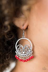 earrings all the way up paparazzi a way of wildlife bead ornate silver earrings