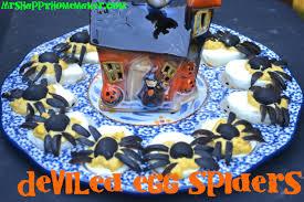 deviled egg spiders u2013 mrs happy homemaker
