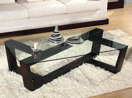 Glass Sofa Table Modern Modern Sofa Table Coffee Table Crisscross Framed Glass Top