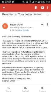 Regret Letter Unable To Join duke responds to s viral rejection letter of