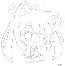 9 pics of anime cat coloring pages anime cat coloring