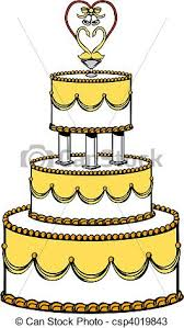 wedding cake drawing vector illustration of a wedding cake vectors search clip