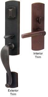 Exterior Door Lockset Emtek Sandcast Bronze Entry Door Handle Shop Entry Set