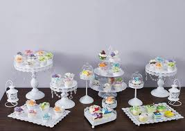 cake stand wedding 12pcs set white cake stand wedding cupcake stand set glass dome