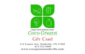 nashville gift baskets coco greens vegan restaurant gift card coco s nashville gift baskets