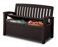 Patio Furniture Storage Bench Keter 60 Gallon All Weather Outdoor Patio Storage Bench 847598