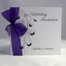 Purple Wedding Invitations Purple Wedding Invitations Amazon Co Uk