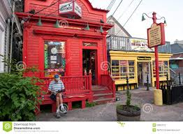 relaxing at commercial street in provincetown editorial